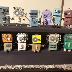 sawryさん/部品/ロボットくん/端材/DIY/収納/... sawryさんのロボットくんが可愛くて …