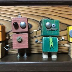 sawryさん/部品/ロボットくん/端材/DIY/収納/... sawryさんのロボットくんが可愛くて …(4枚目)