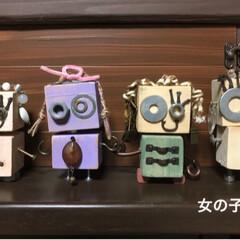sawryさん/部品/ロボットくん/端材/DIY/収納/... sawryさんのロボットくんが可愛くて …(2枚目)