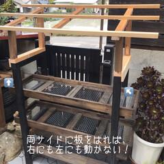 多肉棚/DIY 梅雨の合間に少しづつ…屋根つけたぁ🙌🏻 …(2枚目)