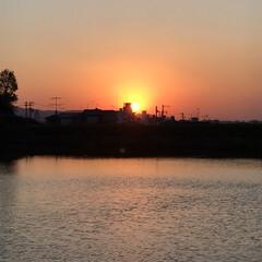 夕陽 いつかの夕陽。  今日の夕陽は最後の1枚…(5枚目)
