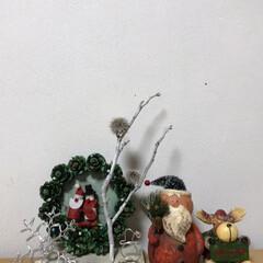 サンタさん/松ぼっくり/ワイヤー/100均/雑貨 松ぼっくりをまさかの全緑に してみました…(2枚目)