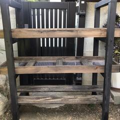 多肉棚/DIY 多肉棚板を網に変えようかと考えたけど、 …(7枚目)