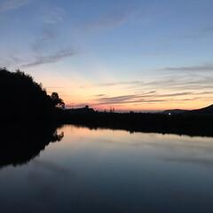 夕陽 いつかの夕陽。  今日の夕陽は最後の1枚…