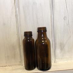 ドライフラワー/栄養ドリンク小瓶/ツル/端材/100均/DIY/... 栄養ドリンク小さい瓶で一輪挿し( ¨̮ …(3枚目)