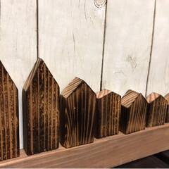 ミニハウス/バーナー焼き/焼き板/DIY/雑貨/きよさんさん/... 焼き板のミニハウス(^^) バーナー焼き…(2枚目)