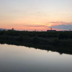 夕陽 いつかの夕陽。  今日の夕陽は最後の1枚…(8枚目)