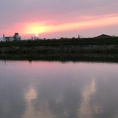 夕陽 いつかの夕陽。  今日の夕陽は最後の1枚…(6枚目)