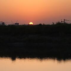 夕陽 いつかの夕陽。  今日の夕陽は最後の1枚…(7枚目)