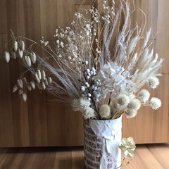 木の実/漂白ドライ/リメ缶 昨日のつづき🙏 家にある白っぽいドライも…
