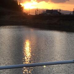 夕陽 いつかの夕陽。  今日の夕陽は最後の1枚…(4枚目)