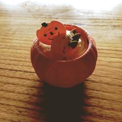 halloween/ハロウィン/🍘/デザート/プリン/かぼちゃ/... ハロウィン🎃👻 家族のお誕生日に ケーキ…(1枚目)