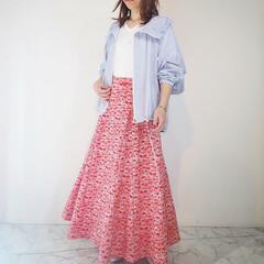 B7/春コーデ/コーディネート/アラサーコーデ/ファッション B7春の新作✨ シアー素材マウンテンパー…