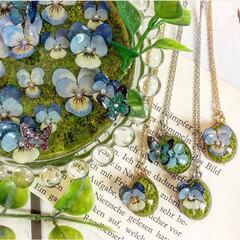 北海道/レジン作品/レジンアクセサリー/レジン/写真/記録/... お花の絵皿とペンダント☺︎ 飾れる絵皿と…