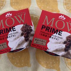 北海道十勝小豆 MOW ラベルに惹かれて買ってしまいまし…