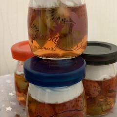 蜂蜜ホイップ/キウイ/苺/コラーゲン 小さい苺見つけたのでジャムでも作ろっかと…(4枚目)