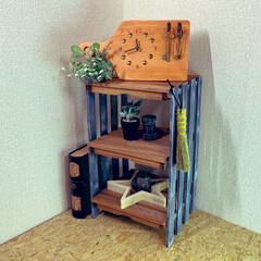 セリア/ダイソー/DIY収納/収納/DIY/100均 【簡単DIY】すのことウッドデッキパネ…
