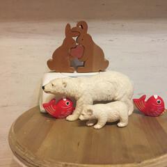 動物モチーフグッズ いつもは玄関の棚に飾っています。 小5の…