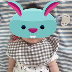 パンツ/スタイ/男の子ママ/ベビー用品/赤ちゃんグッズ/手縫い/... 手縫いでチクチク 360度スタイと、 ク…
