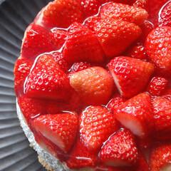 いちごゼリーのせ/レアチーズケーキ/いちごゼリーのせレアチーズケーキ/いちごのスイーツ/手作りスイーツ/お菓子作り/... いちごゼリーのせレアチーズケーキを作りま…(2枚目)