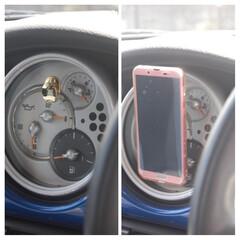 便利用品/アイデアグッズ/スマホ用リングフック/スマホホルダー/一眼レフカメラ/生活の知恵/... 私の車は古いのでカーナビがありません。 …