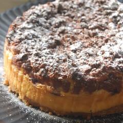 ブルーベリー消費/いちごクッキー/ベイクドチーズケーキ/チーズケーキ/クランブルブルーベリーチーズケーキ/手作りスイーツ/... クランブルブルーベリーチーズケーキを作り…(1枚目)