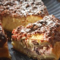 ブルーベリー消費/いちごクッキー/ベイクドチーズケーキ/チーズケーキ/クランブルブルーベリーチーズケーキ/手作りスイーツ/... クランブルブルーベリーチーズケーキを作り…(2枚目)