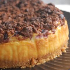 ブルーベリー消費/いちごクッキー/ベイクドチーズケーキ/チーズケーキ/クランブルブルーベリーチーズケーキ/手作りスイーツ/... クランブルブルーベリーチーズケーキを作り…(3枚目)