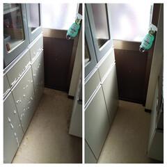 ウタマロクリーナー | ウタマロ(その他洗剤)を使ったクチコミ「台所の床を掃除しました。 汚い画像で失礼…」