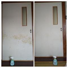 ウタマロクリーナー | ウタマロ(その他洗剤)を使ったクチコミ「壁、引戸掃除をしました。 いまだかつて掃…」