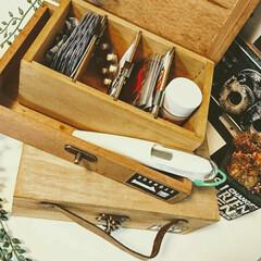 見せる収納/木箱リメイク/木箱アレンジ/セリア/お薬収納/収納/... セリアの木箱を2種類組み合わせて お薬収…