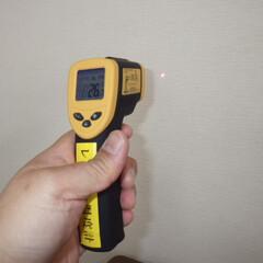 デジタルレーザー温度計/断熱診断/住宅診断/耐震診断 室内気温が25℃だとしても壁面の上下の温…