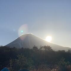 キャンプ 朝霧高原でのキャンプ⛺️ 富士山と朝日が…(2枚目)