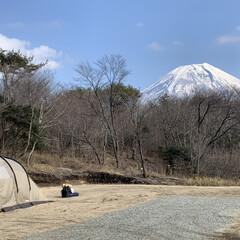キャンプ 朝霧高原でのキャンプ⛺️ 富士山と朝日が…