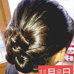 アップヘア/簡単ヘアアレンジ/5分でできる/小学生女子/記録用 本日のヘアアレンジ 時短!大人っぽい!ア…