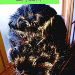 記録用/小学生女子/簡単ヘアアレンジ/5分でできる 本日のヘアアレンジ くるりんぱいっぱいア…