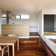 住宅/リビング/ダイニング/キッチン/小上がり/和室/... 海 望む家 ー景色をゆったりと愉しむ家ー…