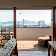 アウトドアリビング/デッキ/大開口/窓/リビング/海/... 海 望む家 ー景色をゆったりと愉しむ家ー…