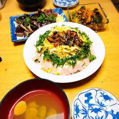 ひな祭り/ピンク ひなまつりごはん🎎 #ちらし寿司#はまぐ…