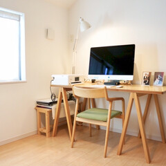 APPLE MRR02J/A iMac(その他)を使ったクチコミ「現在はテレワーク中なので、書斎が仕事部屋…」