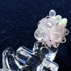 リング/ハンドメイド/手作りアクセ 紫陽花をイメージして。