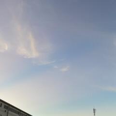 今日も朝から暑い/雲/朝の空/今日の朝 おはようございます☀  今日も暑い1日に…