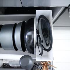 ティファール ガラス蓋 インジニオ ネオ 20cm L99363 3168430180871 | ティファール(圧力鍋)を使ったクチコミ「フライパンの蓋は、まとめてニトリのファイ…」
