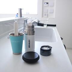 珪藻土/水筒/タンブラー/キッチン雑貨/暮らし 夏になると毎日何個も洗う水筒やタンブラー…