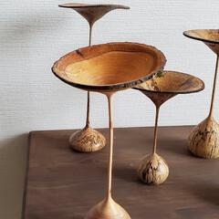 オブジェ/アート/おうちごはん/徳島県/きのこ雑貨/きのこ/... ウッドターニング(木工ろくろ)で作った、…