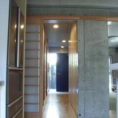 廊下/玄関/コンクリート打ち放し
