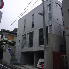 二世帯住宅/鉄筋コンクリート造/外観/コンクリート打ち放し