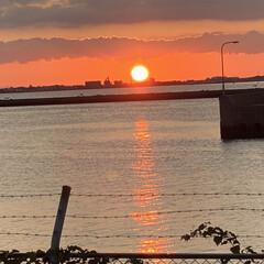 アイホン11で撮影/11月6日朝太陽が出て来ました