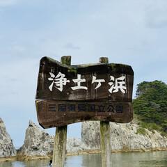カモメ/宮古/浄土ヶ浜/三陸復興国立公園/お出かけ おはようございます。🎶  今日は朝から肌…(1枚目)