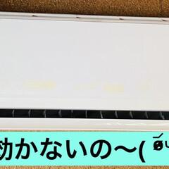修理依頼/故障/エアコン こんにちは🌞 今日も暑い一日です💦 昨夜…(1枚目)